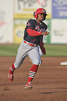 Peoria Chiefs Vaughn Bryan (7) runs during the Midwest League game against the Burlington Bees at Community Field on June 9, 2016 in Burlington, Iowa.  Peoria won 6-4.  (Dennis Hubbard/Four Seam Images)