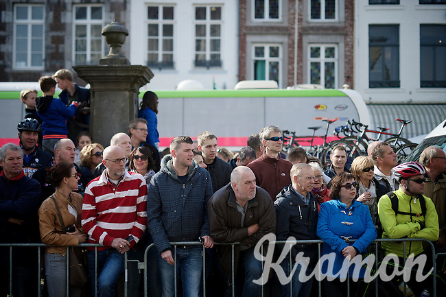 early crowd in Maastricht<br /> <br /> 50th Amstel Gold Race 2015