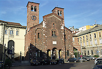 Milano, Chiesa di San Sepolcro, fondata nel 1030 --- Milan, San Sepolcro church, founded in 1030