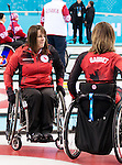 Sochi, RUSSIA - Mar 7 2014 -  Ina Forrest and Sonja Gaudet of Canada's Wheelchair Curling Team trains before the Sochi 2014 Paralympic Winter Games in Sochi, Russia.  (Photo: Matthew Murnaghan/Canadian Paralympic Committee)
