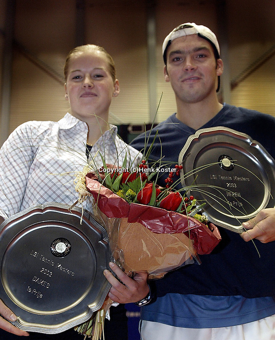 20031214, Rotterdam, LSI Masters, winnaars masters van de Ven en Logtens