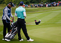 3rd July 2021; Mount Juliet Golf Club, Kilkenny, Ireland; Dubai Duty Free Irish Open Golf, Day Three; Rory Mcilroy of Northern Ireland takes a shot from the 5th green side bunker