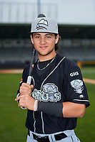 Lansing Lugnuts Bo Bichette (10) poses for a photo before a game against the Clinton LumberKings on May 9, 2017 at Ashford University Field in Clinton, Iowa.  Lansing defeated Clinton 11-6.  (Mike Janes/Four Seam Images)