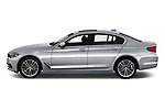 Car driver side profile view of a 2018 BMW 5 Series Sport 4 Door Sedan