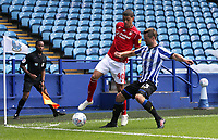 Nottingham Forest's Brennan Johnson is tackled by Sheffield Wednesday's Julian Borner<br /> <br /> Photographer Rich Linley/CameraSport<br /> <br /> The EFL Sky Bet Championship - Sheffield Wednesday v Nottingham Forest - Saturday 20th June 2020 - Hillsborough - Sheffield <br /> <br /> World Copyright © 2020 CameraSport. All rights reserved. 43 Linden Ave. Countesthorpe. Leicester. England. LE8 5PG - Tel: +44 (0) 116 277 4147 - admin@camerasport.com - www.camerasport.com