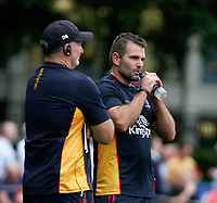 Thursday 9th September 20218 <br /> <br /> Dan Soper and Jared Payne during the pre-season friendly between Saracens and Ulster Rugby at the Honourable Artillery Company Grounds, Armoury House, London, England. Photo by John Dickson/Dicksondigital