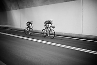 Teammates Julian Alaphilippe (FRA/Etixx-QuickStep) & Tony Martin (DEU/Etixx-Quickstep) go on the attack from pretty early on & will stay ahead from more than 170km before being caught by the peloton <br /> <br /> stage 16: Morain-en-Montagne to Bern (SUI) / 209km<br /> 103rd Tour de France 2016