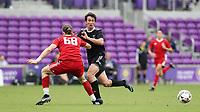 Orlando, Florida - Saturday January 13, 2018: Marcelo Acuna and Markus Fjortoft. Match Day 1 of the 2018 adidas MLS Player Combine was held Orlando City Stadium.