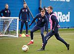 19.02.2020 Rangers training: Andy Halliday and Borna Barisic