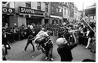 Celebration dans le quartier chinois , annee 70<br /> (date exacte inconnue)<br /> <br /> PHOTO : Alain Renaud - Agence Quebec Presse<br /> <br /> Les images commandees seront recadrees lorsque requis