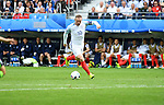 England Captain Wayne Rooney takes a shot in the second half at the Stade Bollaert-Delelis in Lens, France this afternoon during their Euro 2016 Group B fixture.