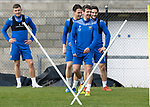 St Johnstone Training….01.10.20     <br />Craig Bryson pictured with Callum Hendry, Danny McNamara and Craig Conway during training at McDiarmid Park ahead of Sundays game against Celtic.<br />Picture by Graeme Hart.<br />Copyright Perthshire Picture Agency<br />Tel: 01738 623350  Mobile: 07990 594431