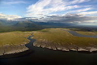 aerial photograph of wetlands at the Kenai Peninsula, Alaska