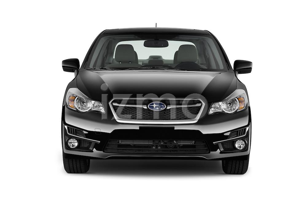 Car photography straight front view of a 2015 Subaru Impreza 2.0I Premium Auto 4 Door Sedan Front View