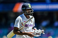 9th January 2021; Sydney Cricket Ground, Sydney, New South Wales, Australia; International Test Cricket, Third Test Day Three, Australia versus India; Ravichandran Ashwin of India walks off the pitch after being dismissed
