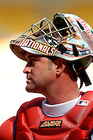 5 September 2005: Brian Schneider, catcher for the Washington Nationals, during a game against the Florida Marlins. The Nationals defeated the Marlins 5-2 at RFK Stadium in Washington, DC, maintaining a close race for the NL Wildcard spot. Mandatory Photo Credit: Ed Wolfstein.