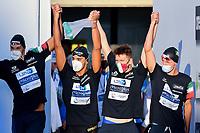Team Italy ITA <br /> Men 4X200m Freestyle Final<br /> swimming, nuoto<br /> LEN European Junior Swimming Championships 2021<br /> Rome 2179<br /> Stadio Del Nuoto Foro Italico <br /> Photo Andrea Masini / Deepbluemedia / Insidefoto