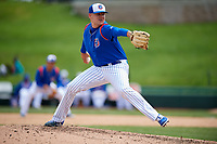 South Bend Cubs relief pitcher Dakota Mekkes (46) delivers a pitch during a game against the Kane County Cougars on May 3, 2017 at Four Winds Field in South Bend, Indiana.  South Bend defeated Kane County 6-2.  (Mike Janes/Four Seam Images)