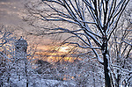 Snowy Sunset, Riverside Park, NYC