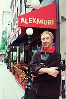 June 5 2003, Montreal, Quebec, Canada. <br /> <br /> Alain Creton, Owner,CHEZ ALEXANDRE restaurant  in Montreal, CANADA.<br /> <br /> Mandatory Credit: Photo by Pierre Roussel- Images Distribution. (©) Copyright 2003 by Pierre Roussel