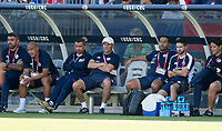 CARSON, CA - FEBRUARY 1: Costa Rica bench during a game between Costa Rica and USMNT at Dignity Health Sports Park on February 1, 2020 in Carson, California.