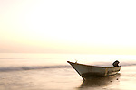 Fishing boat at sunset, Hawf Protected Area, Yemen