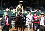 LEXINGTON, KY - April 13, 2017.  #2 La Coronel and jockey Florent Geroux win the 29th running of the Appalachian Presented by Japan Racing Association Grade 3 $125,000 for owner John Oxley and trainer Mark Casse at Keeneland Race Course.  Lexington, Kentucky. (Photo by Candice Chavez/Eclipse Sportswire/Getty Images)