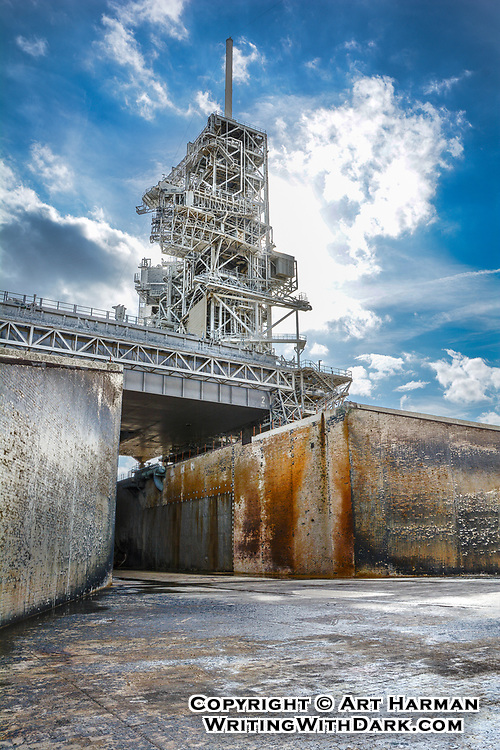 "NASA ""Flame Trench"" at Space Shuttle and Apollo 11 Launch Pad LC-39A by Art Harman"