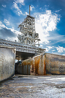 """NASA """"Flame Trench"""" at Space Shuttle and Apollo 11 Launch Pad LC-39A by Art Harman"""