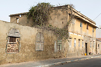 Senegal, Saint Louis.  Old Building from French Colonial Era.