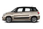 Car Driver side profile view of a 2017 Fiat 500L Lounge 5 Door Mini MPV Side View