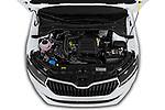 Car Stock 2019 Skoda Fabia-Combi Ambition 5 Door Wagon Engine  high angle detail view