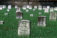 Tombstone of Michigan soldier killed in action at the Battle at Stone River, Tennessee in 1863