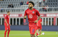 WASHINGTON, D.C. - OCTOBER 11: DeAndre Yedlin #2 of the United States warming up during their Nations League match versus Cuba at Audi Field, on October 11, 2019 in Washington D.C.