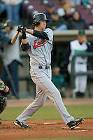 Kyle Russell #25 of the Great Lakes Loons follows through on his swing versus the Dayton Dragons at Fifth Third Field April 22, 2009 in Dayton, Ohio. (Photo by Brian Westerholt / Four Seam Images)