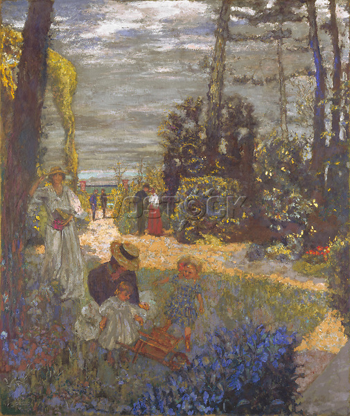 Full title: The Terrace at Vasouy, the Garden<br /> Artist: Edouard Vuillard<br /> Date made: 1901, reworked 1935<br /> Source: http://www.nationalgalleryimages.co.uk/<br /> Contact: picture.library@nationalgallery.co.uk<br /> <br /> Copyright © The National Gallery, London