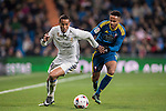 Danilo Luiz Da Silva (l) of Real Madrid battles for the ball with Theo Bongonda Mbul'ofeko Batombo of RC Celta de Vigo during their Copa del Rey 2016-17 Quarter-final match between Real Madrid and Celta de Vigo at the Santiago Bernabéu Stadium on 18 January 2017 in Madrid, Spain. Photo by Diego Gonzalez Souto / Power Sport Images