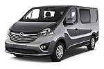 2015 Opel Vivaro Sportive 4 Door Combi 2WD Angular Front stock photos of front three quarter view