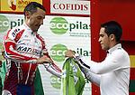 Joaqui Rodriguez (l) and Alberto Contador during during the stage of La Vuelta 2011 between Sarria and Ponferrada.August 29,2011. (ALTERPHOTOS/Alfaqui/Paola Otero)