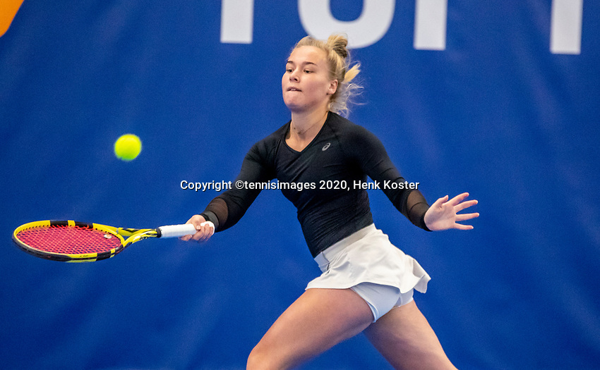 Amstelveen, Netherlands, 14  December, 2020, National Tennis Center, NTC, NK Indoor, National  Indoor Tennis Championships, Qualifying:   Annick Melgers  (NED)<br /> Photo: Henk Koster/tennisimages.com