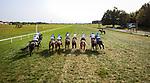 Princess Grace (#2, Karakontie) wins the Calumet Bourbon Ladies Turf (G3) at Kentucky Downs on 9.11.21. Florent Geroux up, Michael Stidham trainer, Susan and John Moore owners.