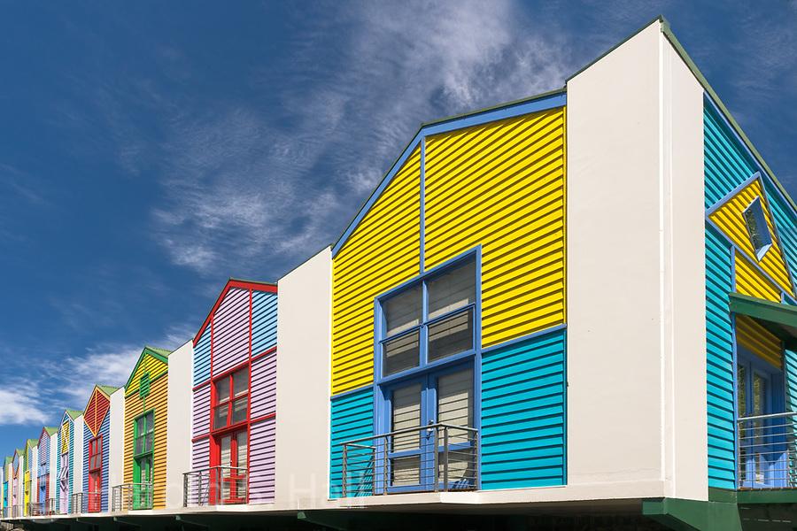 Colorful homes in Lorne, Australia.