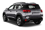 Car pictures of rear three quarter view of 2019 Citroen C5-Aircross Shine 5 Door SUV Angular Rear