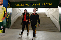 20180228 - LARNACA , CYPRUS :  Belgian Diede Lemey and Charlotte Tison (r) pictured during a women's soccer game between Spain and the Belgian Red Flames , on friday 2 March 2018 at the AEK Arena in Larnaca , Cyprus . This is the second  game in group B for  Belgium during the Cyprus Womens Cup , a prestigious women soccer tournament as a preparation on the World Cup 2019 qualification duels. PHOTO SPORTPIX.BE | DAVID CATRY