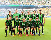 AUSTIN, TX - JUNE 19: Austin FC Starting XI pose for a photo before a game between San Jose Earthquakes and Austin FC at Q2 Stadium on June 19, 2021 in Austin, Texas.