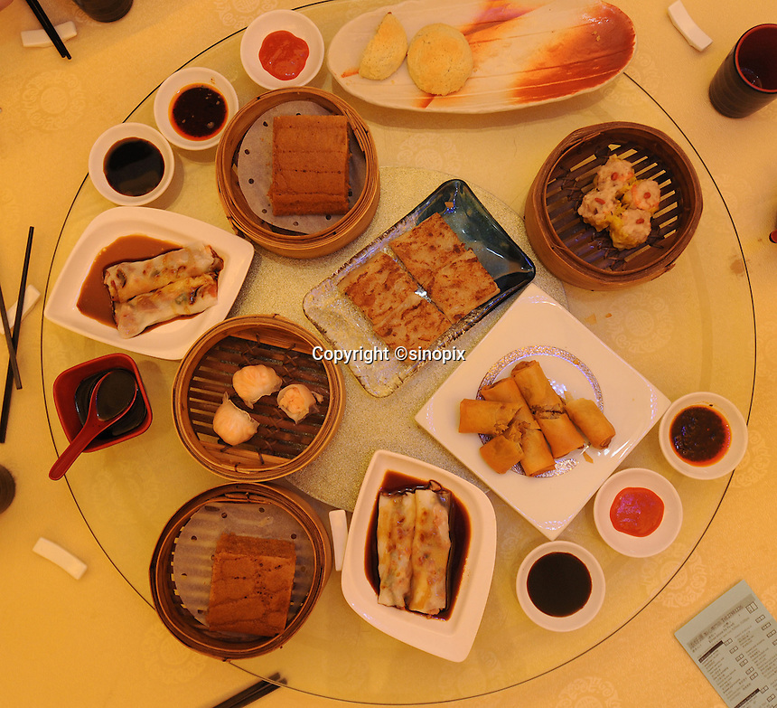 """An assortment of """"Dim Sum"""" dishes in the Tim Ho Wan the cheapest Michelin starred restaurant in the world, Hong Kong..17-Jul-11..Photo by Richard Jones....."""