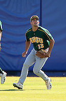North Dakota State Bisons Kyle Kleinendorst #13 during a game vs Bradley Braves at Chain of Lakes Park in Winter Haven, Florida;  March 17, 2011.  Bradley defeated North Dakota State 6-5.  Photo By Mike Janes/Four Seam Images