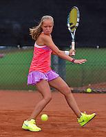 Netherlands, Rotterdam August 05, 2015, Tennis,  National Junior Championships, NJK, TV Victoria, Margriet Timmermans<br /> Photo: Tennisimages/Henk Koster