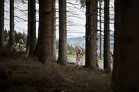 Sean De Bie (BEL/Lotto-Soudal) speeding down while eating<br /> <br /> stage 4: Hotel Verviers - La Gileppe (187km)<br /> 29th Ster ZLM Tour 2015