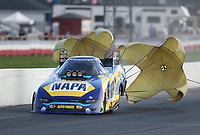 Sep 5, 2020; Clermont, Indiana, United States; NHRA funny car driver Ron Capps during qualifying for the US Nationals at Lucas Oil Raceway. Mandatory Credit: Mark J. Rebilas-USA TODAY Sports